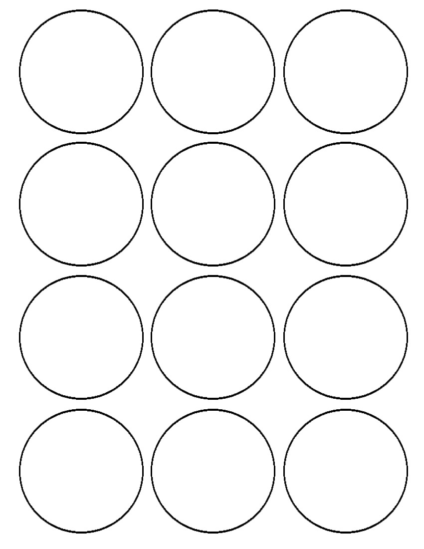 circle templates to print - flour confections