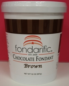 Brown - Chocolate Fondarific fondant. 2 lbs