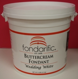 Wedding White Buttercream flavour Fondarific fondant. 5 lbs
