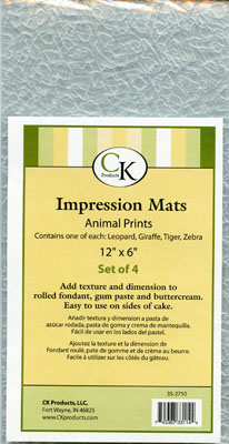 ANIMAL PRINT ASSORTED IMPRESSION MAT SET OF 4