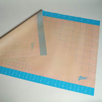"SILICONE FONDANT WORK MAT WITH GRID LINES - 24""X36"""