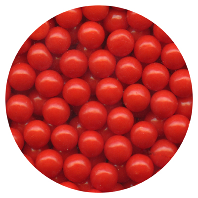 RED MATTE 7 mm CANDY BEADS - 4 OZ
