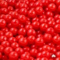 Red 7 mm Edible Candy Pearls - 130g