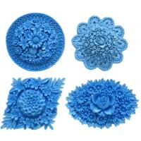 Assorted Flower Medallions 2 Silicone Mold