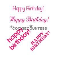 Happy Birthday Cookie Stencil - the Cookie Countess