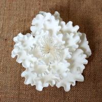 "Peony Gumpaste Flower White - 4.5"". Includes 3."