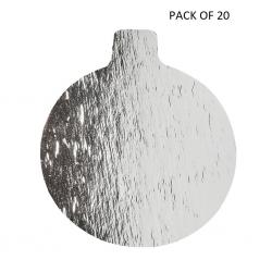 "Silver 0.045"" Round Thin Tab Board - 3 1/4"" - PACK OF 20"