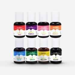 8 Natural Color Kit 10 mL Liqua-Gel Food Color