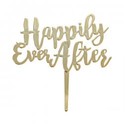 Happily Ever After Cake Topper Pic - 1 pcs