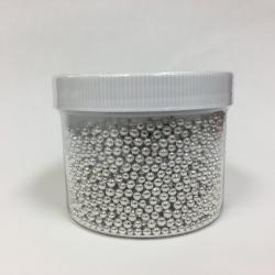Dragee Silver 4 mm - 250 Gram Jar