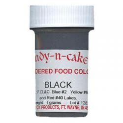 Powder Food Color Black - 3 Grams