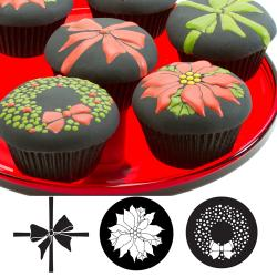 15% Off! Christmas Cupcake/cookie Texture Tops