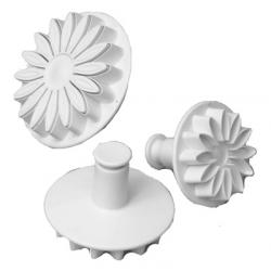 PME Sunflower Daisy Gerbera Plunger Cutter  Set of 3