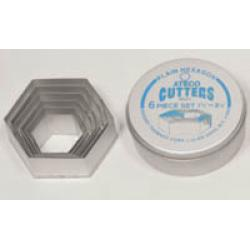 Hexagon Cutter Set - Ateco 6 Pieces