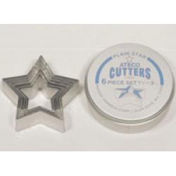 Star Cutter Set - Ateco 6 Pieces
