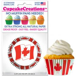 Canadian Flag Cupcake Liner - pkg of 32