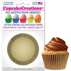 Gold Cupcake Liners - pkg of 32
