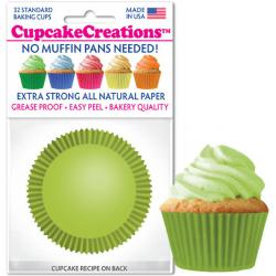 Lime Green Cupcake Liners - pkg of 32