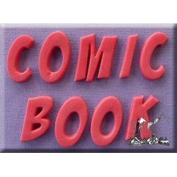 Comic Book Font Mold - by Alphabet Moulds