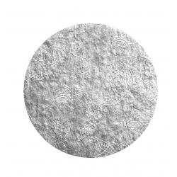 "Silver 0.08"" Embossed Round Thin Board - 4"""