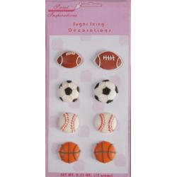 Last 2! Assorted Sports Ball Cupcake Toppers