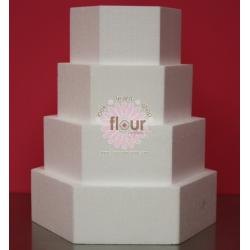 "Hexagon Foam Cake Dummy - 4"" H X 10"" W"