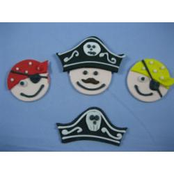 Last 3! Pirates Cupcake Topper