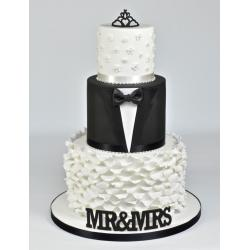 Curved Words Mr & Mrs by FMM Sugarcraft