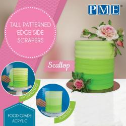 Scallop Tall Patterned Edge Side Scraper by PME