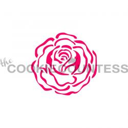 Single Rose Cookie Stencil - The Cookie Countess