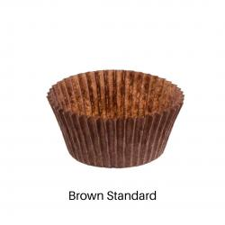 Brown Standard Size Cupcake Liners pkg 100