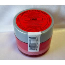 Pink Edible Glitter Paint by Sugarflair - 20 Grams